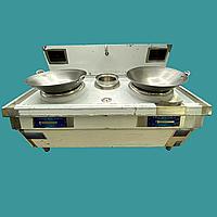 Плита индукционная напольная 2 конфорки ВОК 15+15 кВт