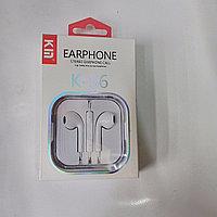 Наушник проводные K-S6 earphone для iPhone
