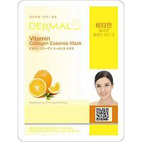 Dermal Питательная маска для лица на основе эссенции витамина С Vitamin Collagen Essence Mask