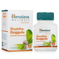Шудха Гуггул, для обмена веществ, холестерин, сердце 60 таб, Shuddha Guggulu, Himalaya ср.год 08.21г