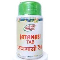 Джатаманси, помощь нервной системе, тоник для мозга 60 таб, Jatamasi Shri Ganga
