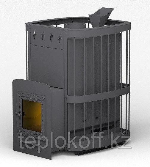 Печь для бани Волга Таганай 28 со стеклом, закрытая каменка (ДТ-4С)
