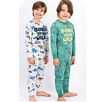 Пижама детская мальчик.* рост 116-122, Меланж кремовый