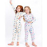 Пижама детская девичья* рост 104-110, Серый меланж