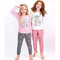 Пижама детская девичья* рост 116-122, Кремовый меланж