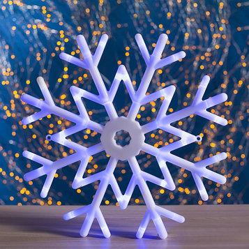 "Фигура ""Снежинка"" d=40 см, пластик, 30 LED, 220V, контрол. 8р. СИНИЙ"