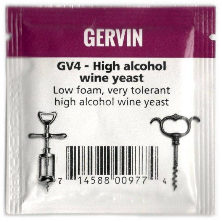 "Винные дрожжи Gervin ""High Alcohol Wine GV4"", 5 г"