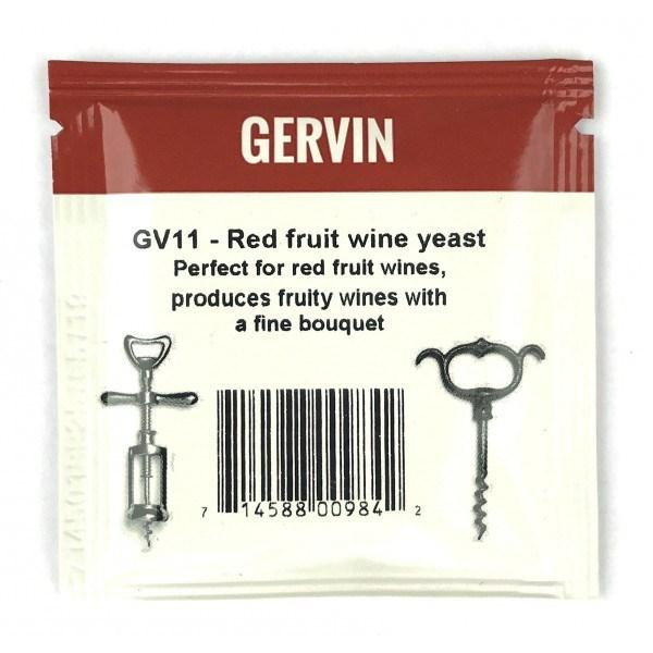 "Винные дрожжи Gervin ""Red Fruit Wine GV11"", 5 г"