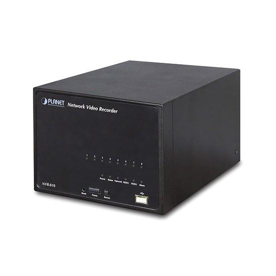 Сетевой видеорегистратор, Planet, NVR-810, 1 порт 10/100/1000 Мбит/с RJ-45  + 2 порта USB 2.0