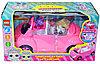 Упаковка помята!!! YM11-609 Маленькая кукла  на машине едет на пикник 31*17см