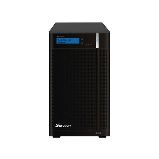 Сетевой видеорегистратор, Surveon, SMR8032, 32 канала, Настольный, 2 интерфейса Ethernet (RJ-45), 1