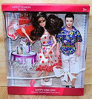 Упаковка помята!!! ZR 686 Latest Fashion  Кукла гнется в суставах с женихом, 33*28см, фото 1