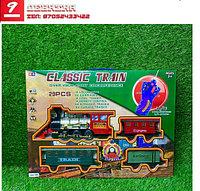 Игрушечный набор железная дорога и поезд со свето-звуковым сопровождением