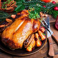 Рождественский гусь или Гусь с яблоками запеченный.