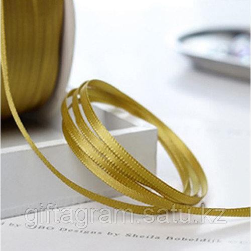 Лента декоративная золотистая, шириной 3 мм - фото 2