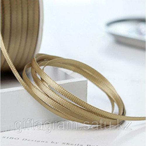 Лента декоративная золотистая, шириной 3 мм - фото 3