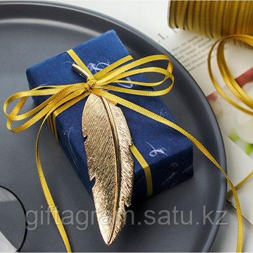 Лента декоративная золотистая, шириной 3 мм - фото 4