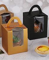 Коробка для пирожного, капкейка, баночки