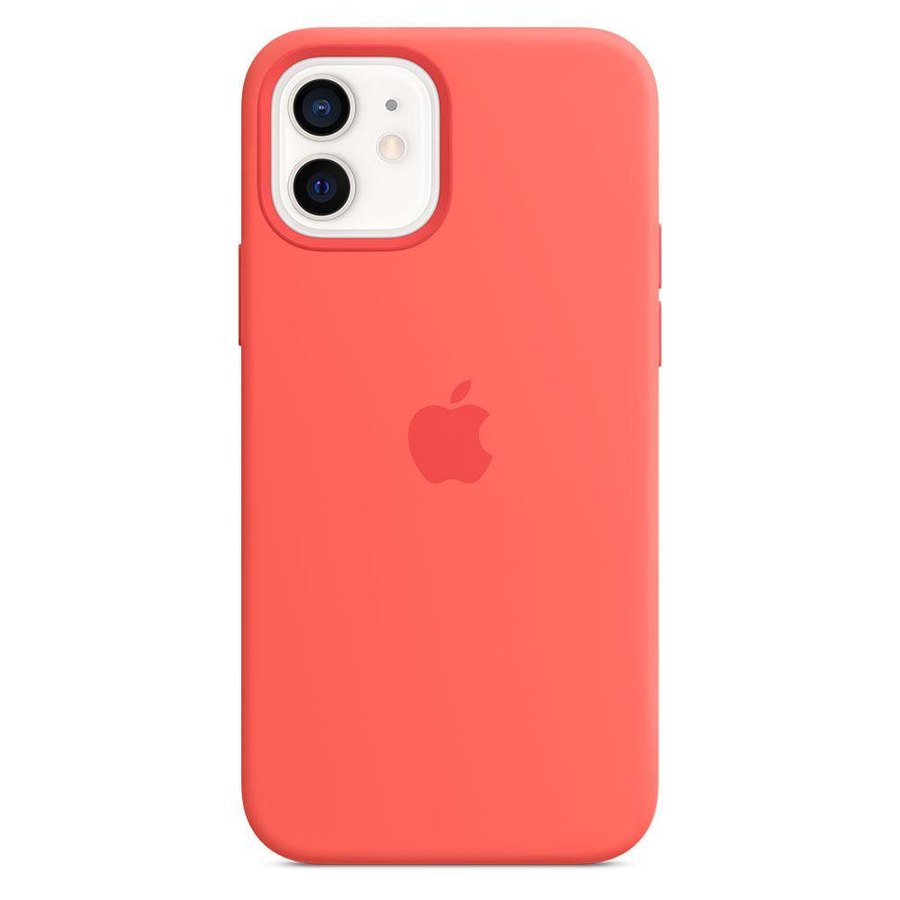 Оригинальный силиконовый чехол для Apple IPhone 12/12 Pro с MagSafe - Pink Citrus