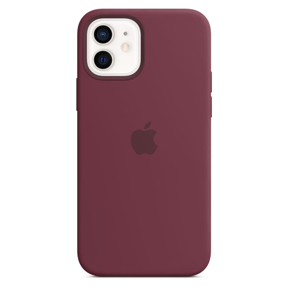Оригинальный силиконовый чехол для Apple IPhone 12/12 Pro с MagSafe - Plum