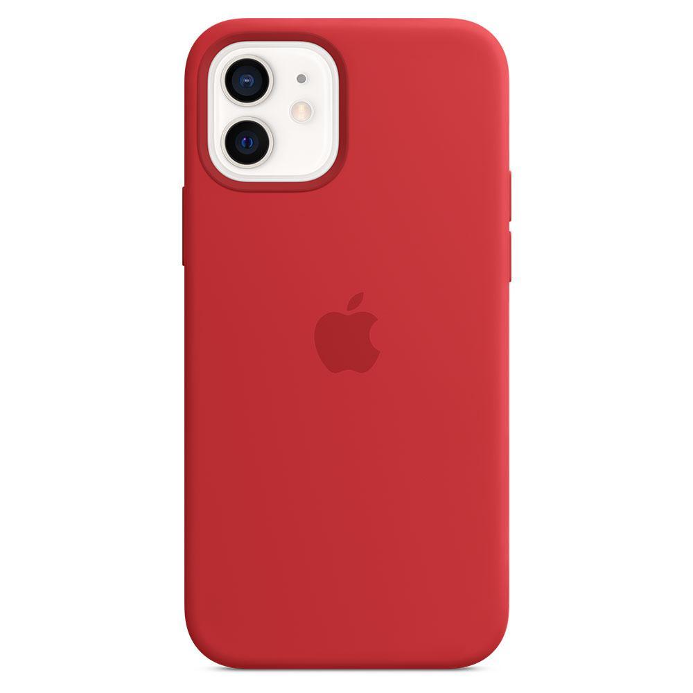 Оригинальный силиконовый чехол для Apple IPhone 12/12 Pro с MagSafe - (PRODUCT)RED