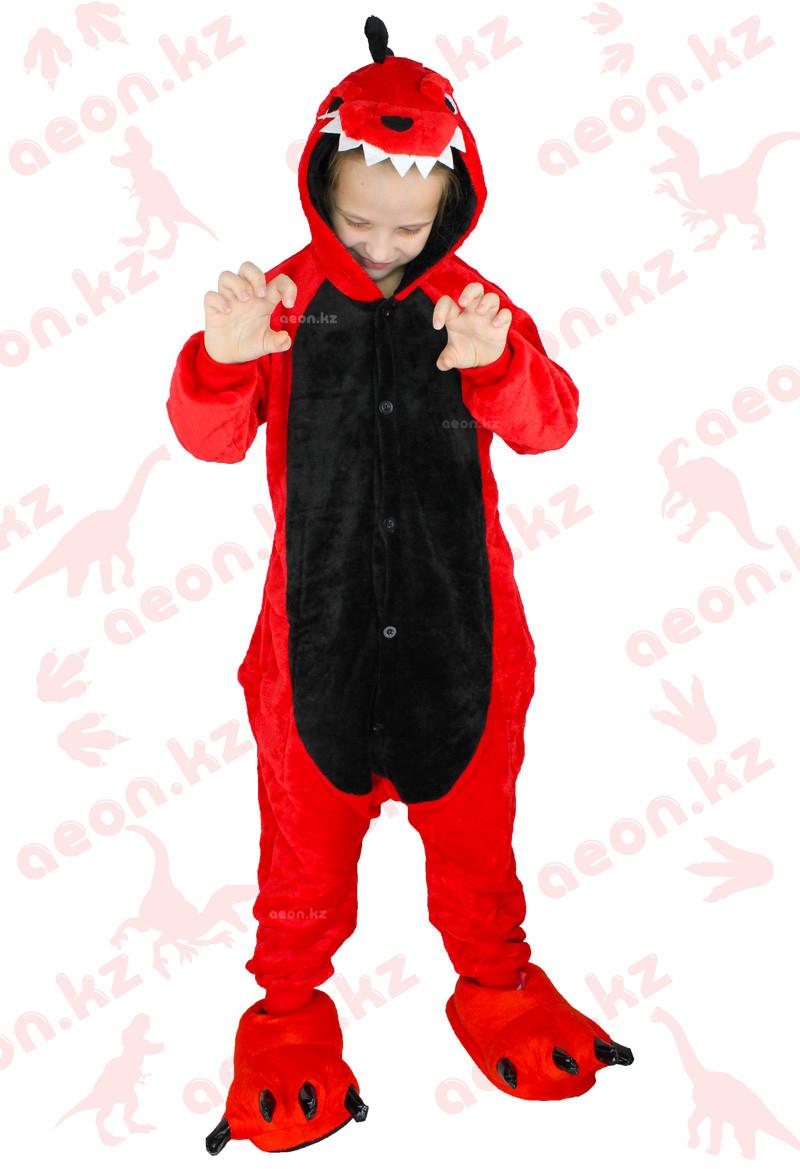 Кигуруми Красный Динозавр детский