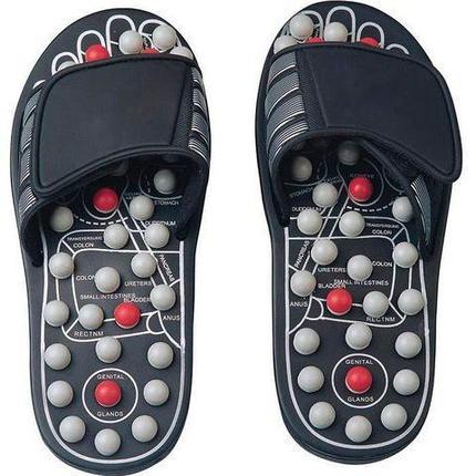 Рефлекторные массажные тапочки «Сила йоги» Foot Reflex, магнитно-акупунктурные (44-45), фото 2