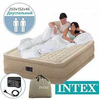 Кровать двуспальная ортопедическая INTEX Comfort-Plush DELUXE 64428 надувная с электронасосом