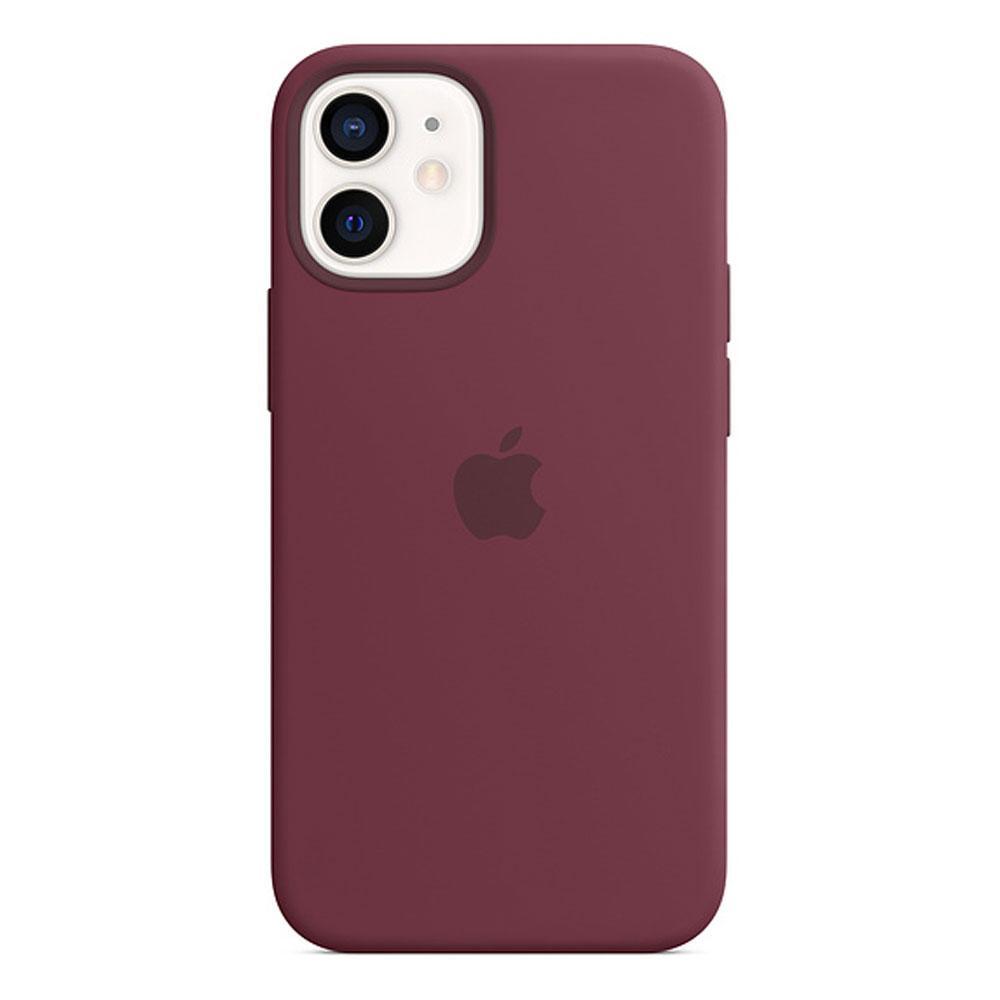 Оригинальный силиконовый чехол для Apple IPhone 12 mini с MagSafe - Plum