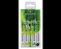 Набор акварельных маркеров ECOLINE Оттенки зеленого, 5 шт.