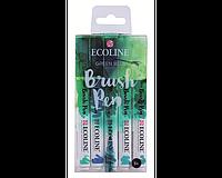 Набор акварельных маркеров ECOLINE Сине-зеленые оттенки, 5 шт.