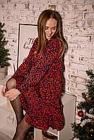 Женское осеннее шифоновое нарядное платье PUR PUR 754/7 42р.