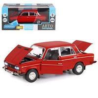Машина металлическая 'ВАЗ 2106' 122, инерция, открываются двери, капот и багажник, цвет красный