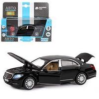 Машина металлическая Mercedes-Benz S60 132, инерция, световые и звуковые эффекты, открываются двери, капот,