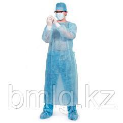Одноразовый медицинский халат с манжетом