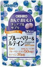 Жевательные витамины, для глаз.Orihiro. 120 штук на 30 дней.