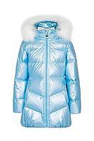 Детская для девочек зимняя голубая куртка Bell Bimbo 193007 голубой 104-56р.
