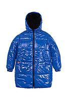 Детская для девочек зимняя синяя куртка Bell Bimbo 193017 василек/черный 134-68р.