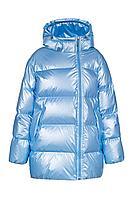 Детская для девочек зимняя голубая куртка Bell Bimbo 193015 голубой 134-68р.