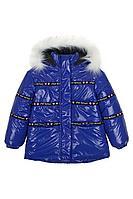 Детская для девочек зимняя синяя куртка Bell Bimbo 193009 василек 104-56р.