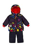 Детская для мальчиков зимняя куртка и полукомбинезон Bell Bimbo 193021 черный/набивка 80-48р.