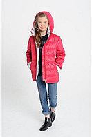 Детская для девочек осенняя красная куртка Bell Bimbo 173057 гранат 134-68р.