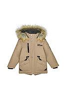 Детская для мальчиков зимняя бежевая куртка Bell Bimbo 173156 песочный 104-56р.
