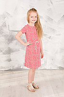 Детское для девочек летнее трикотажное красное платье GuliGuli П-71 красая-крапинка 98-52р.