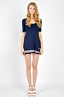 Детское для девочек летнее трикотажное синее платье GuliGuli П-12д синий 152-76р.