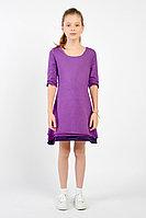 Детское для девочек летнее трикотажное фиолетовое платье GuliGuli П-12д фиолет 122-60р.