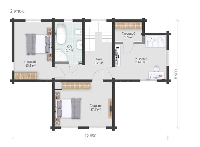 Частный жилой дом индивидуальный проект, план двухэтажного дома и строительство под ключ, проектирование и строительство деревянных домов.
