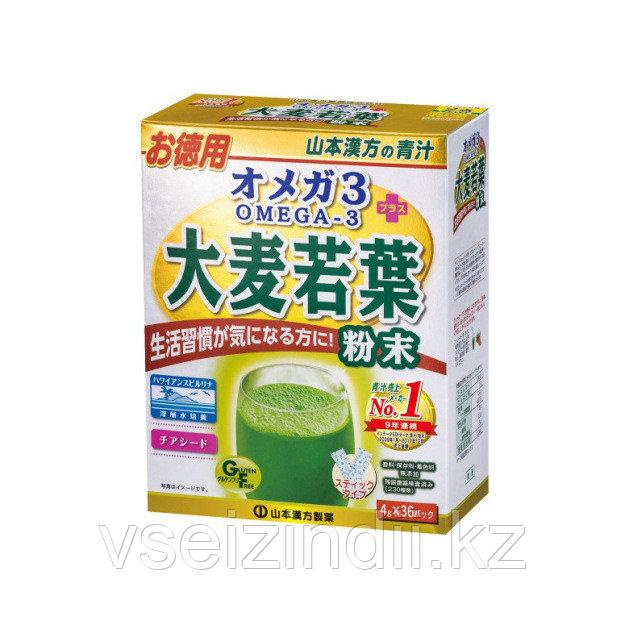 Аодзиру Омега 3 Спирулина + семена Чиа (порошок 4г х 36 стиков)