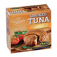 Trata Smoked Tuna in Vegetable Oil, копченый тунец в растительном масле, 160 гр