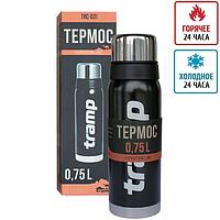 Термос Tramp 0.75л оливковый и черный, 24 часа, доставка Trc-031